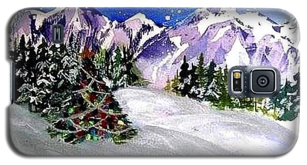 Christmas In The Mountains Galaxy S5 Case