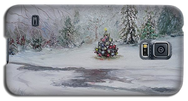 Galaxy S5 Case featuring the painting Christmas In The Woods by Catherine Hamill