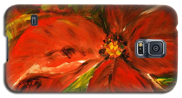 Galaxy S5 Case featuring the painting Christmas Star by Jasna Dragun