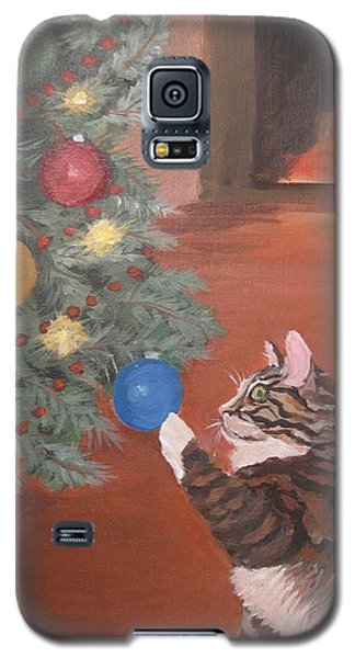 Christmas Kitty Cat Galaxy S5 Case