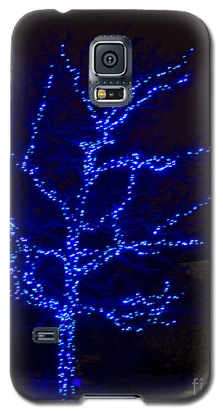 Christmas Light Series No 2  Blue  Galaxy S5 Case by Bill Woodstock