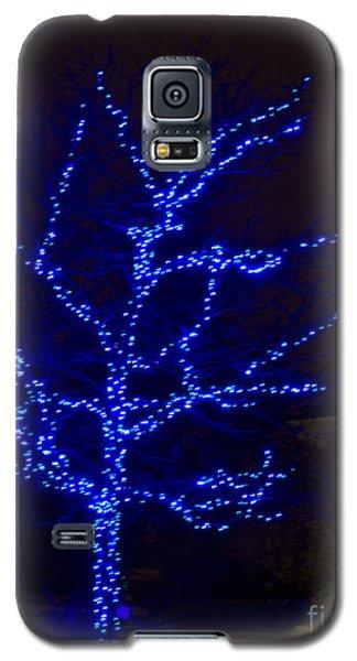 Christmas Light Series No 2  Blue  Galaxy S5 Case
