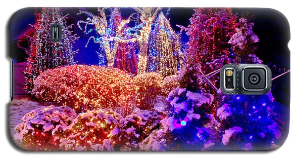 Christmas Lights In The Park Galaxy S5 Case