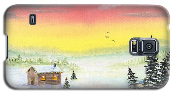 Galaxy S5 Case featuring the painting Christmas Morning by Mary Scott