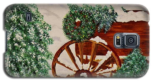 Christmas On The Farm Galaxy S5 Case by Celeste Manning