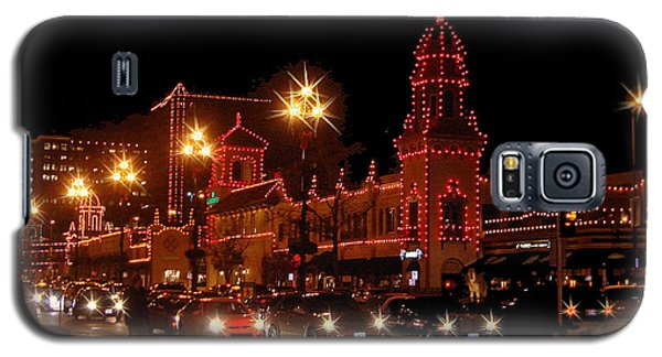 Christmas On The Plaza Galaxy S5 Case by Ellen Tully