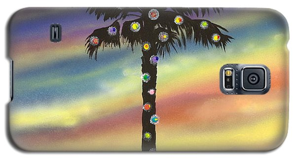 Galaxy S5 Case featuring the painting San Clemente Christmas by Mary Scott