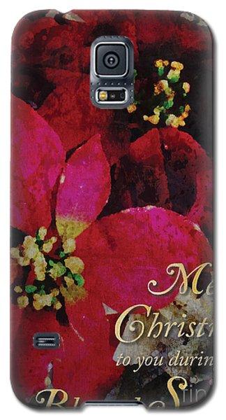 Christmas Poinsettia Galaxy S5 Case