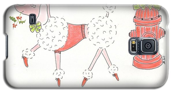 Christmas Poodle Galaxy S5 Case