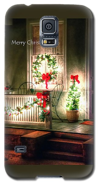 Christmas Porch Galaxy S5 Case by Jerry Sodorff