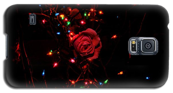 Galaxy S5 Case featuring the photograph Christmas Rose by Diane Lent