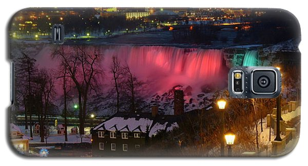 Christmas Spirit At Niagara Falls - Holiday Card Galaxy S5 Case by Lingfai Leung