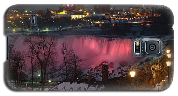 Christmas Spirit At Niagara Falls Galaxy S5 Case by Lingfai Leung