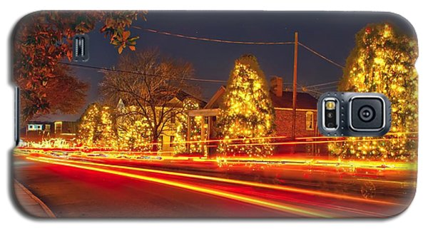 Galaxy S5 Case featuring the photograph Christmas Town Usa by Alex Grichenko