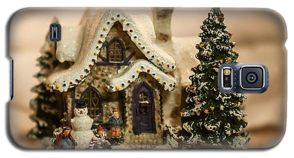 Galaxy S5 Case featuring the photograph Christmas Toy Village by Alex Grichenko
