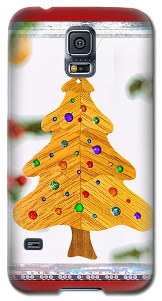 Christmas Tree Art Ornament In Red  Galaxy S5 Case