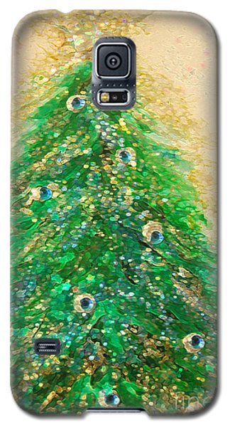 Christmas Tree Gold By Jrr Galaxy S5 Case by First Star Art
