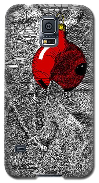Christmas Tree Squirrel With Red Ornament Galaxy S5 Case