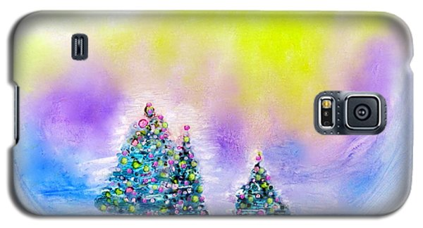 Christmas Trees In The  Valley - Alcohol Inks In Pastel Galaxy S5 Case