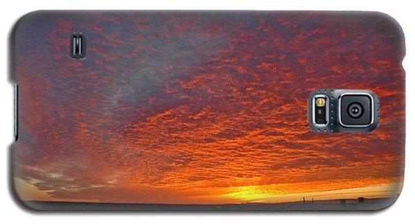 Galaxy S5 Case featuring the photograph Christmas Valley Sunrise by Nick  Boren