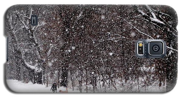 Galaxy S5 Case featuring the photograph Christmas Walk by Jacqueline M Lewis
