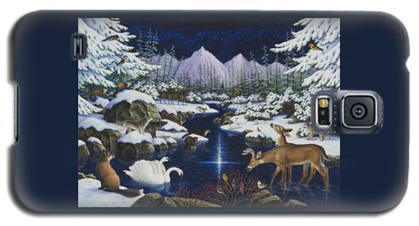 Otter Galaxy S5 Case - Christmas Wonder by Lynn Bywaters