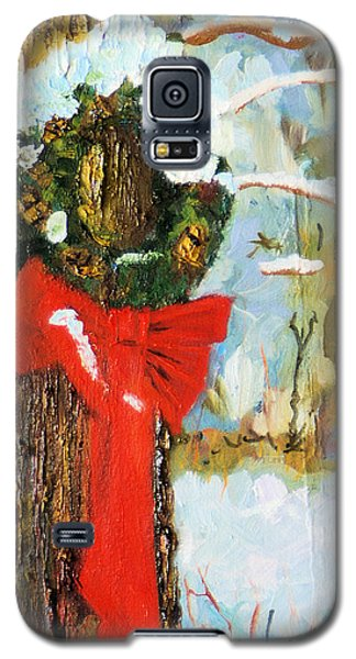 Galaxy S5 Case featuring the painting Christmas Wreath by Michael Daniels
