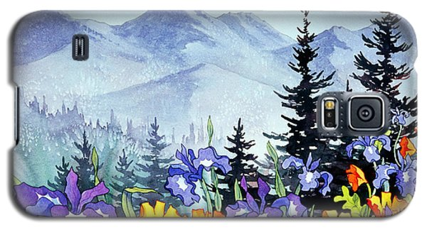 Galaxy S5 Case featuring the painting Chugach Summer by Teresa Ascone