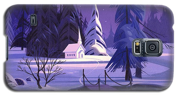 Church In Snow Galaxy S5 Case by Michael Humphries