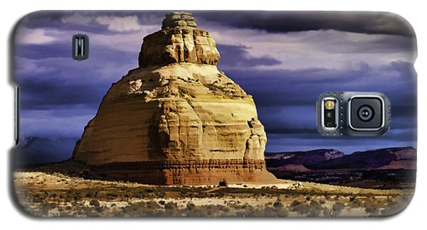 Galaxy S5 Case featuring the painting Church Rock  by Muhie Kanawati