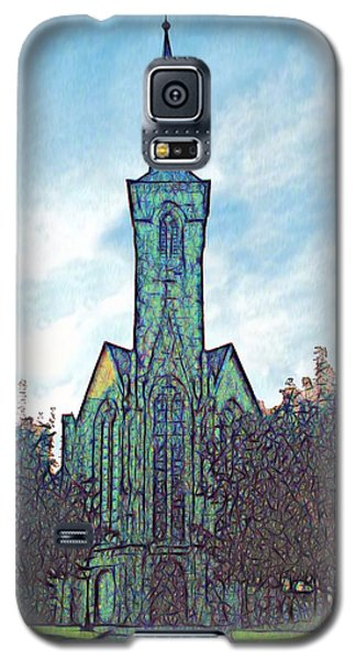 Church Steeple At Sunrise Galaxy S5 Case by Dennis Lundell