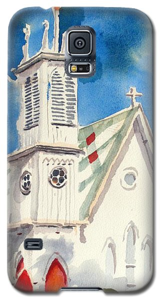 Church With Jet Contrail Galaxy S5 Case