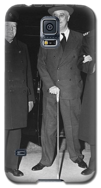Churchill And Roosevelt Galaxy S5 Case by Underwood Archives
