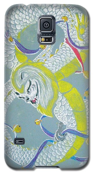 Galaxy S5 Case featuring the pastel Chu's Dance Of 12 Bells by Wendy Coulson