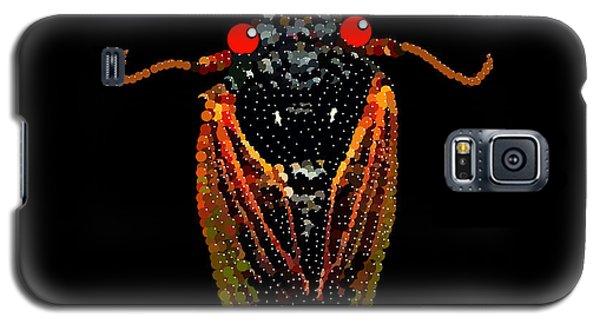 Galaxy S5 Case featuring the digital art Cicada In Black by R  Allen Swezey