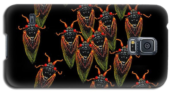 Galaxy S5 Case featuring the digital art Cicadas by R  Allen Swezey
