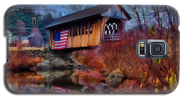 Cilleyville Covered Bridge Galaxy S5 Case by Jeff Folger