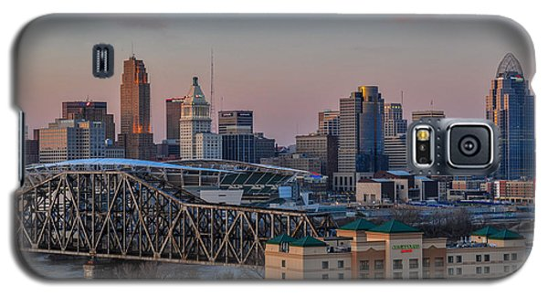 D9u-876 Cincinnati Ohio Skyline Photo Galaxy S5 Case