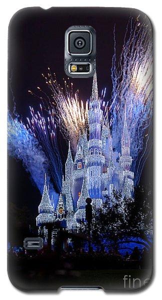 Magic Kingdom Castle Frozen Blue Galaxy S5 Case