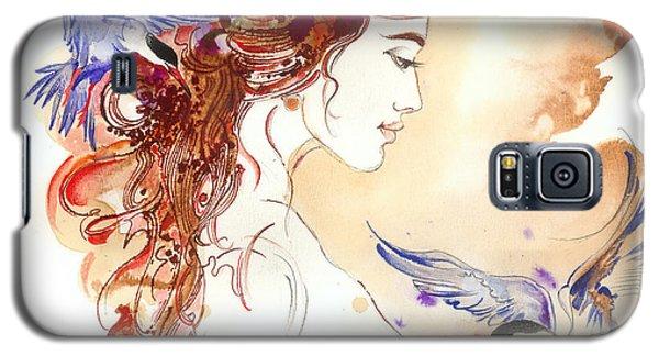 Galaxy S5 Case featuring the painting Cinderella Story by Anna Ewa Miarczynska