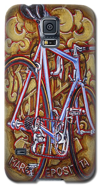 Galaxy S5 Case featuring the painting Cinelli Laser Bicycle by Mark Howard Jones