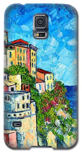 Cinque Terre Italy Manarola Painting Detail 3 Galaxy S5 Case