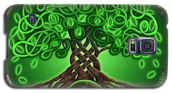 Circle Celtic Tree Of Life Galaxy S5 Case by Kristen Fox
