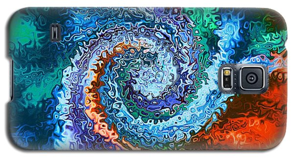 Circle Of Colors Abstract Art Galaxy S5 Case by Annie Zeno
