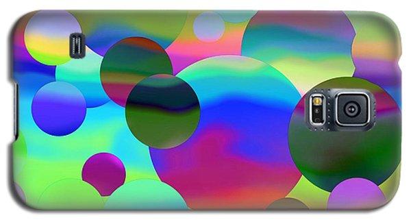 Galaxy S5 Case featuring the digital art Circles by Elizabeth Budd