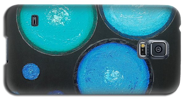 Galaxy S5 Case featuring the painting Circles Of My Mind by Mini Arora