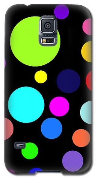 Circles On Black Galaxy S5 Case