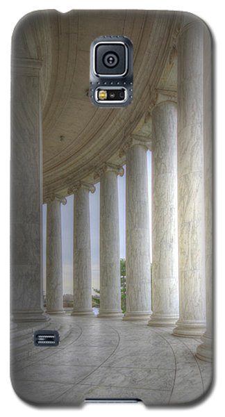 Circular Colonnade Of The Thomas Jefferson Memorial Galaxy S5 Case by Shelley Neff