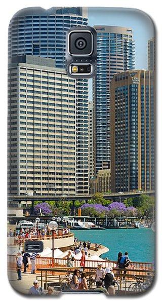 Circular Quay - Sydney - Australia - With Skyscrapers And A Hint Of Purple Jacaranda Galaxy S5 Case