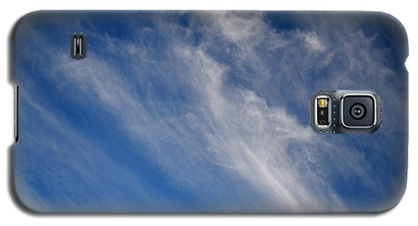 Galaxy S5 Case featuring the digital art Cirrus Clouds And Blue Sky 2  by Lyle Crump